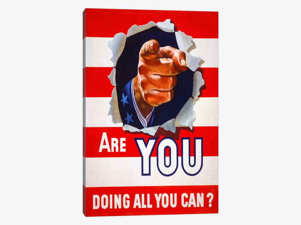 Are You Doing All You Can? 1-piece Canvas Art