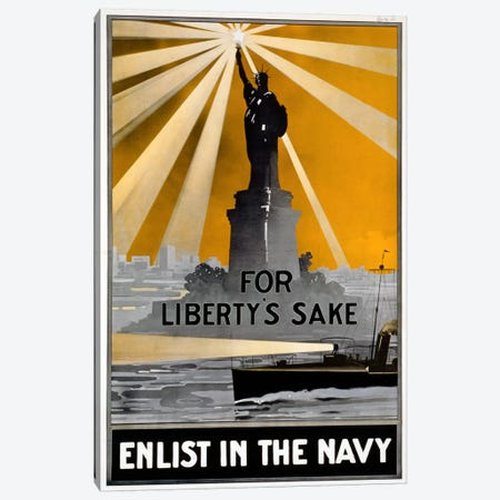 For Liberty's Sake Canvas Print #PCA91} by Print Collection Art Print