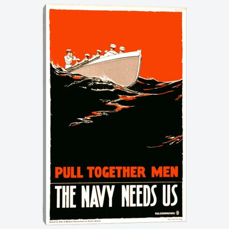 The Navy Needs Us Canvas Print #PCA92} by Print Collection Canvas Art Print