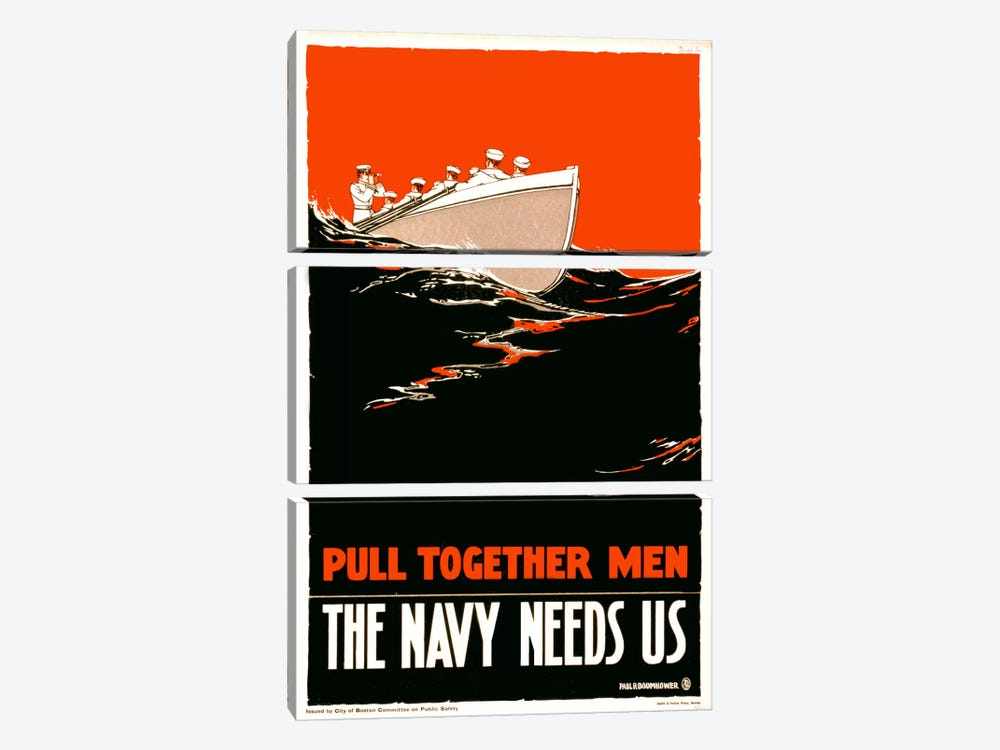 The Navy Needs Us by Print Collection 3-piece Canvas Wall Art