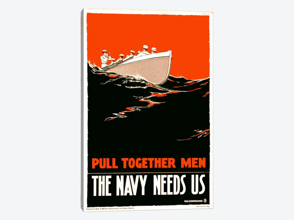 The Navy Needs Us by Print Collection 1-piece Canvas Art