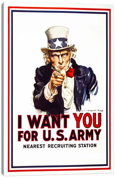 I Want You For U.S. Army Canvas Art Print