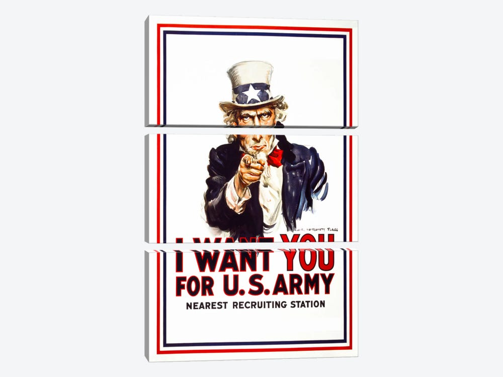 I Want You For U.S. Army by Print Collection 3-piece Canvas Art Print
