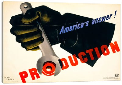 Production, America's Answer! Canvas Print #PCA94