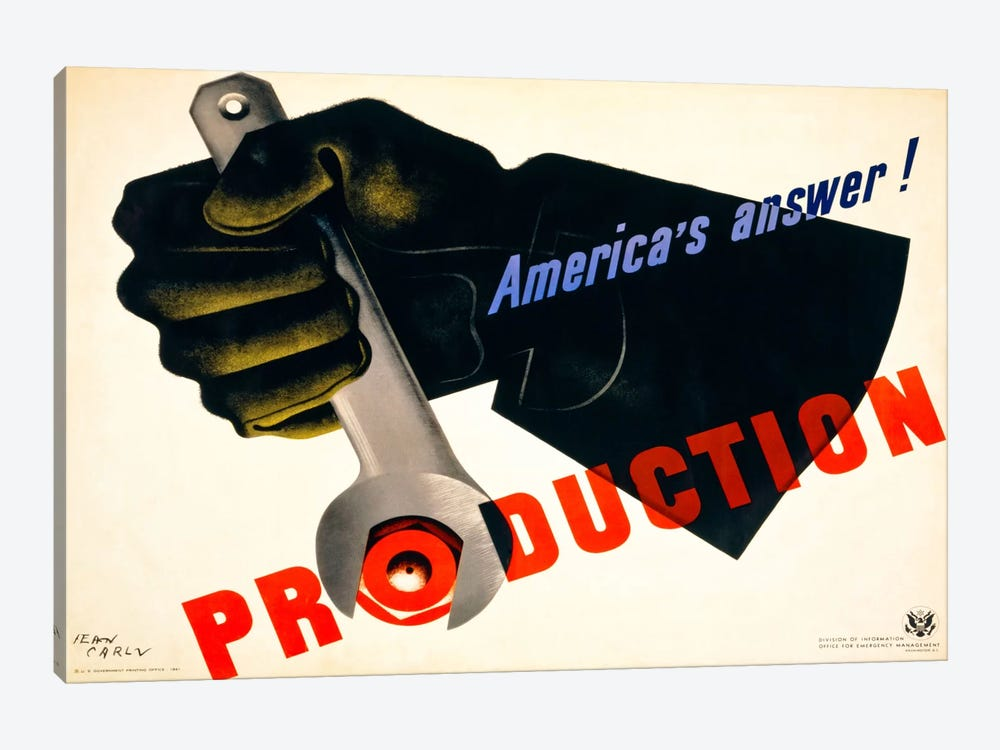 Production, America's Answer! by Print Collection 1-piece Canvas Wall Art