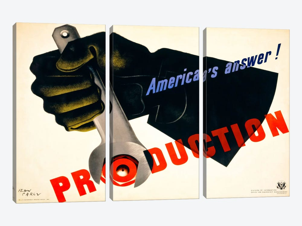 Production, America's Answer! by Print Collection 3-piece Canvas Art
