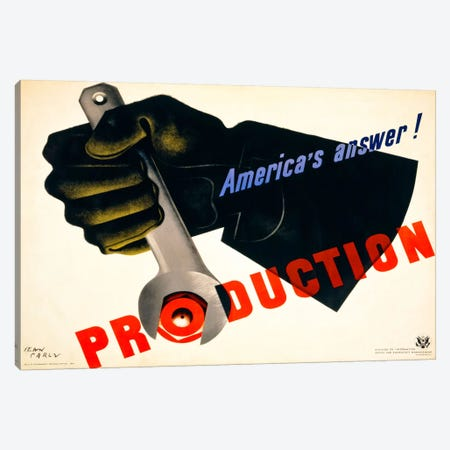 Production, America's Answer! Canvas Print #PCA94} by Print Collection Canvas Art