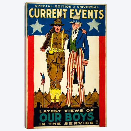 Special Edition of Universal Current Events Latest Views of our Boys in the Service Canvas Print #PCA95} by Print Collection Canvas Artwork