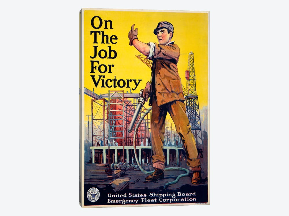 On the Job for Victory by Print Collection 1-piece Canvas Artwork