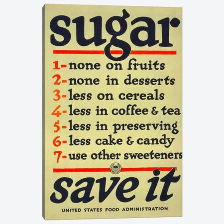 Sugar, Save It Canvas Print #PCA97} by Print Collection Canvas Art