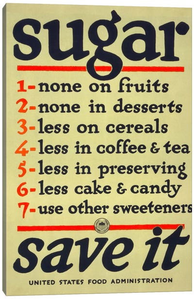 Sugar, Save It Canvas Print #PCA97