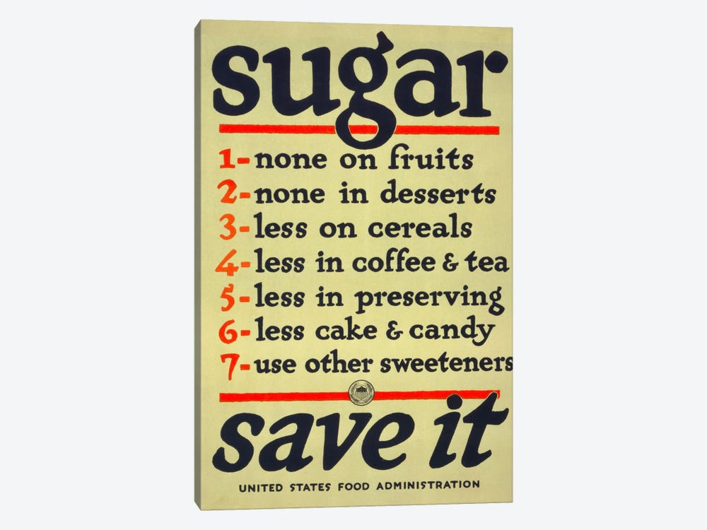 Sugar, Save It by Print Collection 1-piece Canvas Art Print