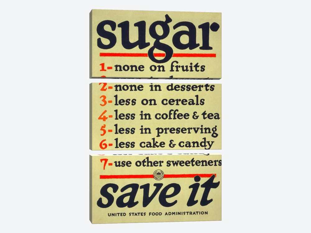 Sugar, Save It by Print Collection 3-piece Canvas Print