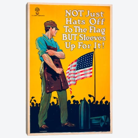 Not Just Hats Off... Canvas Print #PCA98} by Print Collection Canvas Art Print