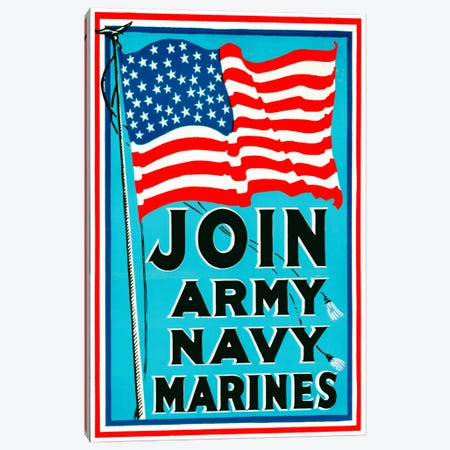Join Army Navy Marines Canvas Print #PCA99} by Print Collection Canvas Art Print