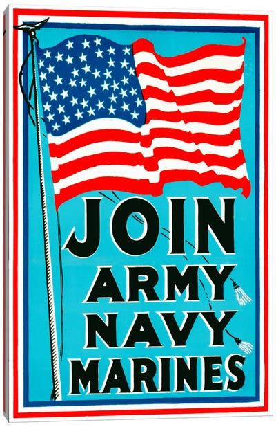 Join Army Navy Marines Canvas Print #PCA99