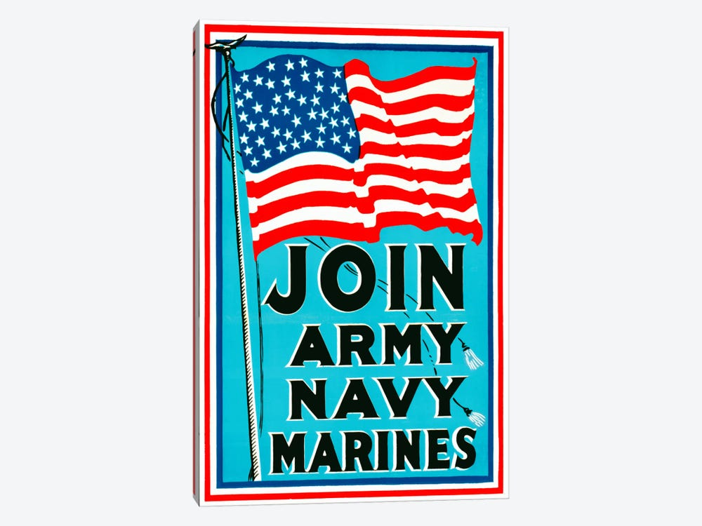 Join Army Navy Marines by Print Collection 1-piece Canvas Print