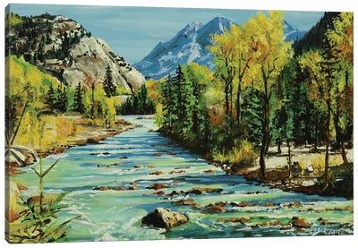 Glacial Stream Canvas Art Print