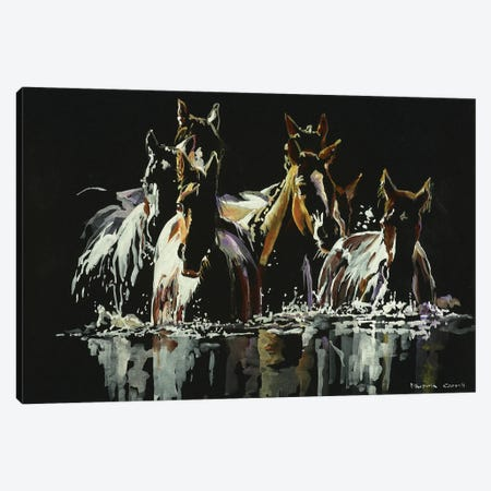 Midnight Crossing Canvas Print #PCL19} by Patricia Carroll Canvas Art