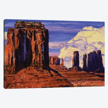 Monument Valley Canvas Print #PCL21} by Patricia Carroll Art Print