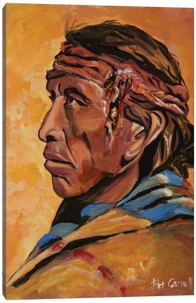 Navajo Elder Canvas Art Print