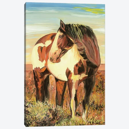 Paint Horse Canvas Print #PCL26} by Patricia Carroll Canvas Artwork
