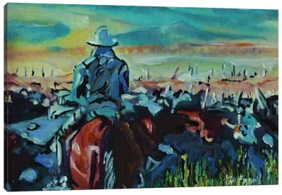 Running The Herd Canvas Art Print