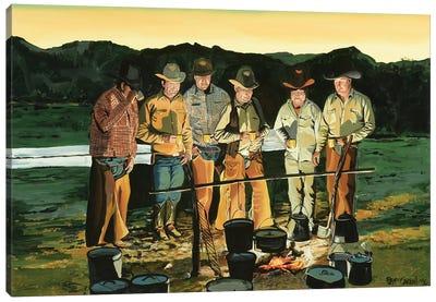 Sunset Coffee Canvas Art Print