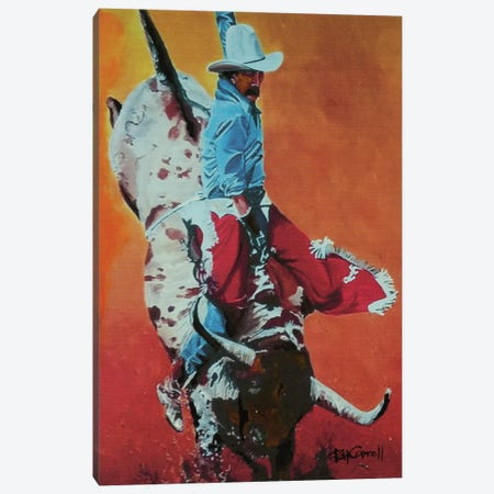 The Bull Rider Canvas Print #PCL33} by Patricia Carroll Canvas Art