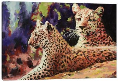 The Leopard Lounge Canvas Art Print