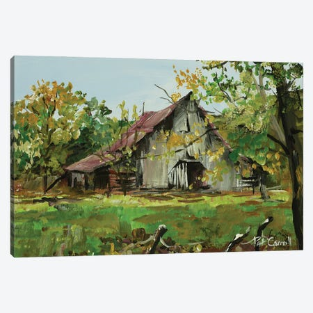 Weathered Barn Canvas Print #PCL36} by Patricia Carroll Canvas Art Print