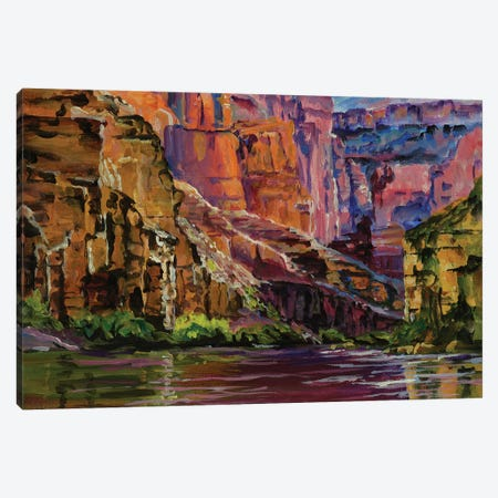 Canyon Colors Canvas Print #PCL4} by Patricia Carroll Canvas Art