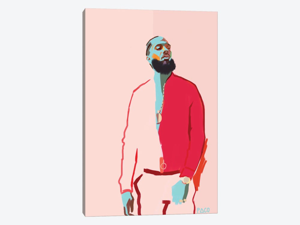 Nipsey by Paco May 1-piece Canvas Art