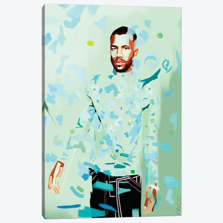 Frank Vertical Canvas Print #PCM32} by Paco May Canvas Art Print
