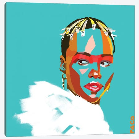 Lupita Square Canvas Print #PCM39} by Paco May Art Print