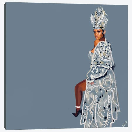 Pope Riri Square Canvas Print #PCM43} by Paco May Canvas Wall Art