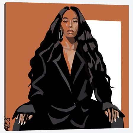 Solange Square Canvas Print #PCM53} by Paco May Canvas Print