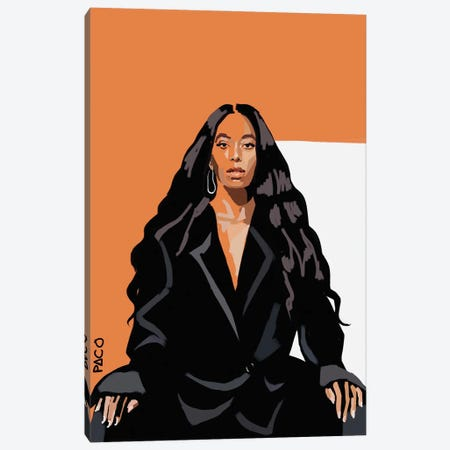 Solange Vertical Canvas Print #PCM54} by Paco May Canvas Artwork