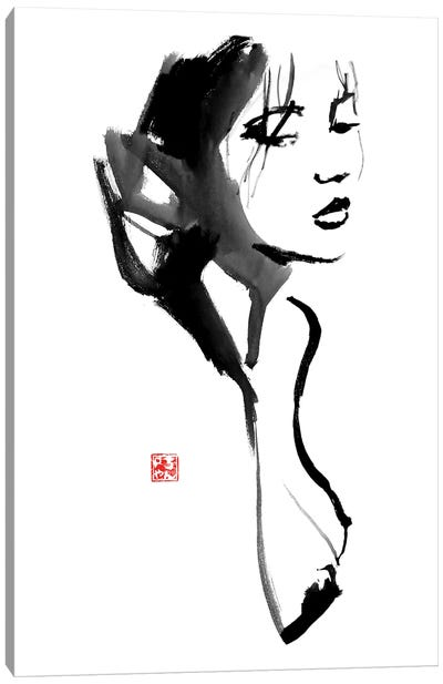 Nude Geisha Canvas Art Print