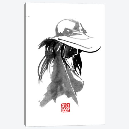 Nude With Hat Canvas Print #PCN112} by Péchane Art Print