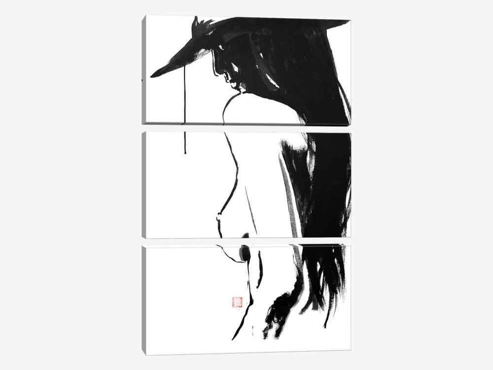 Nude's Hat by Péchane 3-piece Canvas Art Print