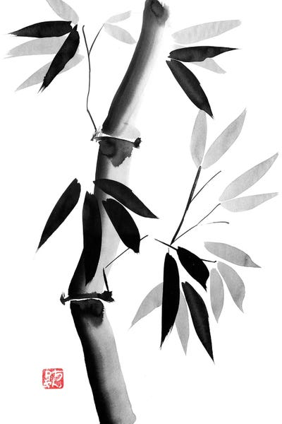 4202 bamboo black white Paintings on canvas 150 x 50 cm nr