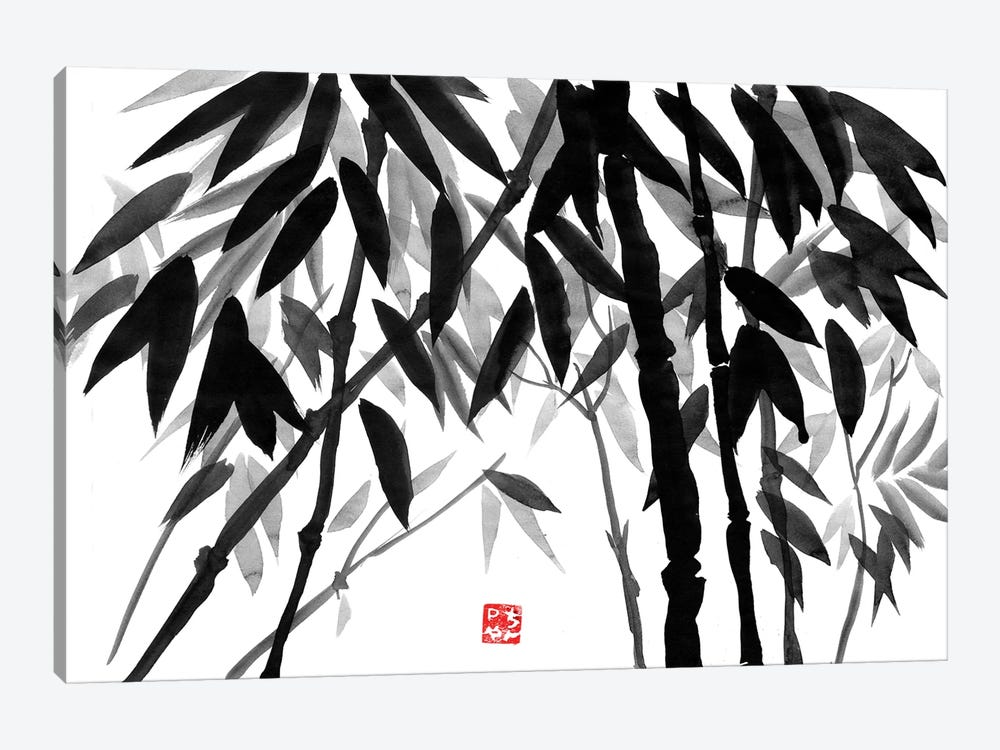 Bamboo Forest by Péchane 1-piece Canvas Art Print