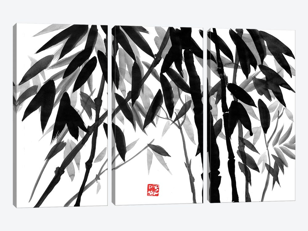 Bamboo Forest by Péchane 3-piece Canvas Print