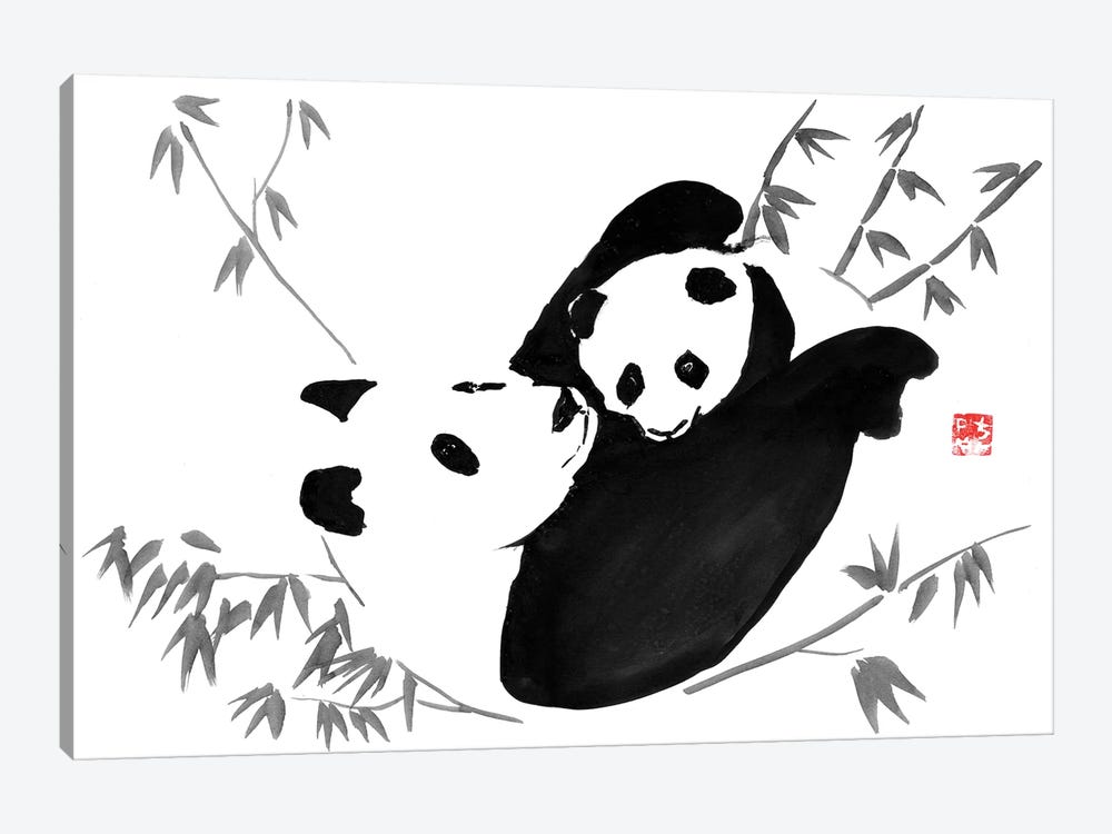 Panda Family by Péchane 1-piece Canvas Art