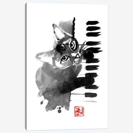 Pianist Cat Canvas Print #PCN133} by Péchane Canvas Art Print