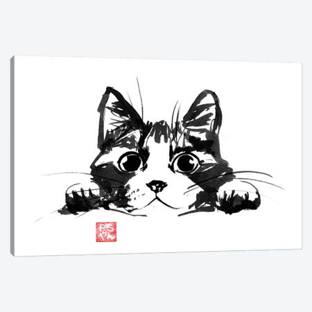 Playing Cat Canvas Print #PCN135} by Péchane Canvas Wall Art