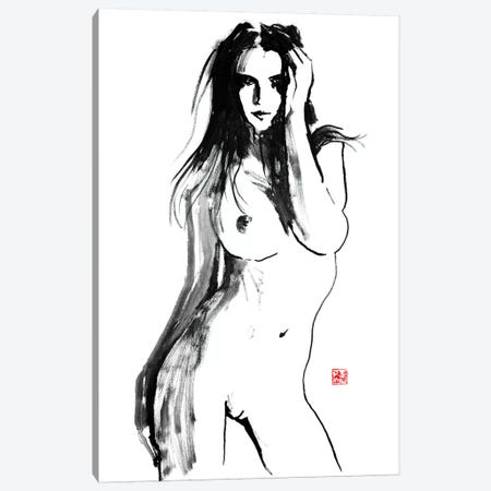 Posing Canvas Print #PCN137} by Péchane Canvas Artwork