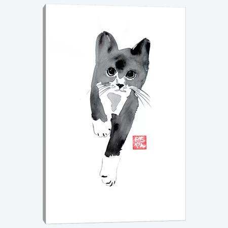 Running Cat Canvas Print #PCN143} by Péchane Canvas Art