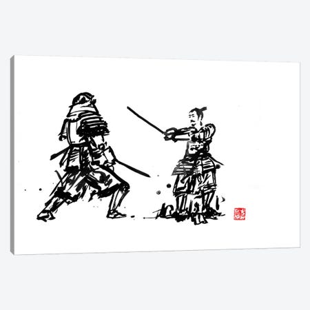 Samurais Fight Canvas Print #PCN145} by Péchane Canvas Art Print